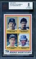 Paul Molitor / Alan Trammell Rookie Card 1978 Topps #707 BVG BGS 8