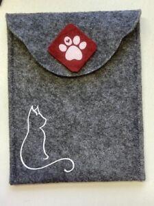 Impfpasshülle für Katzen und Hunde dunkelgrau/kaminrot für Impfpass