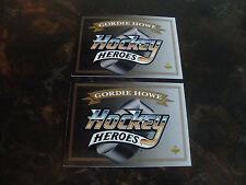 1992-93 Upper Deck Hockey---Gordie Howe Heroes---Headers---Lot Of 2