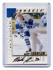 1998 Pinnacle Be A Player #218 Mike Johnson Maple Leafs Autographed jh10