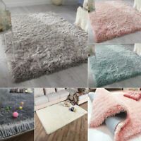 Shaggy Rug Small Large Size Thick Plain Soft Living Room Rug Bedroom Floor Rug