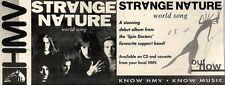 """7/8/93PGN31 STRANGE NATURE : WORLD SONG ALBUM ADVERT 4X11"""""""