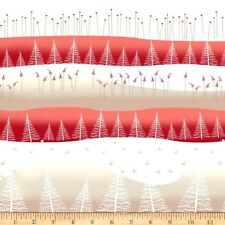 CHRISTMAS FABRIC Fat Quarter Cotton Craft Quilting Xmas Trees