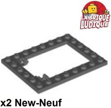 Gray modified 1x1 with Clip 6x Plaque // Plate Light B NEUF Lego 4081 B
