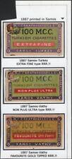 TURKEY, 1887. Cigarette Labels, M.C, Carathanassis, Samos-Vathy
