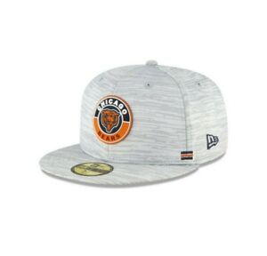 Chicago Bears Hat New Era 59Fifty Gray Classic Logo Fitted 7-3/8 7-1/8 7-5/8 Cap