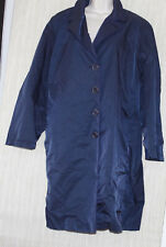 Cinzia Rocca Navy Rain Coat Jacket Women's Size: 22