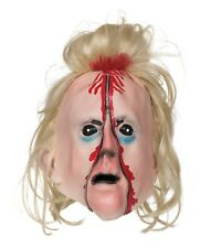 HALLOWEEN PARTY ADULT RUBBER BLOODY HORROR SCARY ZIPPER FACE MASK
