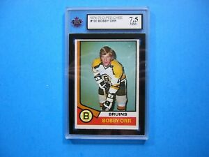 1974/75 O-PEE-CHEE NHL HOCKEY CARD #100 BOBBY ORR KSA 7.5 NM+ SHARP+ 74/75 OPC
