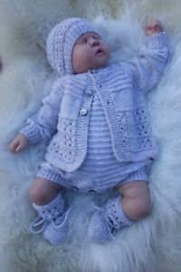PRINTED PAPER KNITTING PATTERN TO MAKE BELOVED in 3 S1ZES BABY/ DOLLS