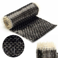 1Pc 12K 200G 10*100cm Black Carbon Fiber Cloth Fabric Tape Uni-directional Weave