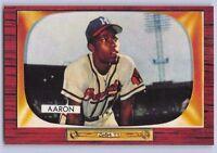 "1955  HANK AARON - BOWMAN ""REPRINT"" Baseball Card # 179 - MILWAUKEE BRAVES"