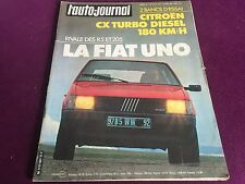 AUTO JOURNAL N°7 ANNEE 1983 CITROEN CX TURBO DIESEL FIAT UNO TURBO