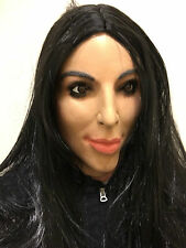 Deluxe Kim Kardashian Mask Full Head Kardashians TV Female Doll Fancy Dress