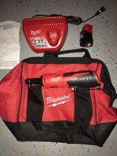 Brand New Milwaukee 12-Volt Cordless 3/8 in. Ratchet Kit 2457-21 2.0 Battery
