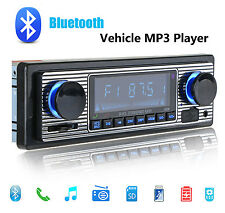 Classical Retro Style Car Radio Bluetooth Car Stereos Head Units USB/SD/Charging