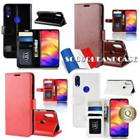 Etui folio housse coque Qualité Cuir PU Leather Case XIAOMI Redmi Note 7,Mi Play