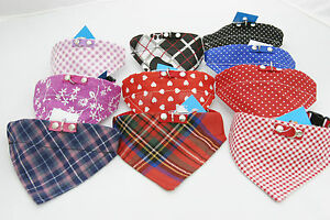 """Hundehalsband mit Tuch, Bandana, Katzenhalsband, - Größe """"S"""" viele Farbvarianten"""