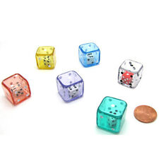Set of 6 Six D6 Sided 19mm Double Dice Die RPG Math Education Assorted Color