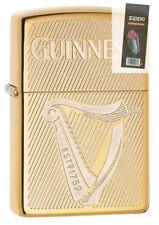 Zippo 29651 Guinness Beer High Polish Brass Finish Lighter + FLINT PACK