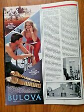 1984 Bulova Watches Ad  It's Bulova Watch Time Again