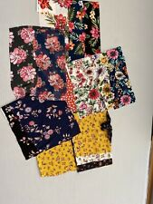 Rayon Challis Chiffon Floral Printed Fabric Remnants Textile Clothing Multicolor