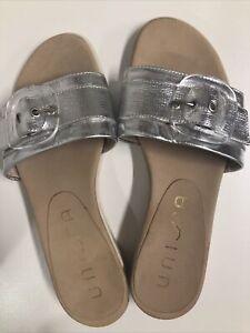 Unisa Slides Spanish Designer Silver Size 37