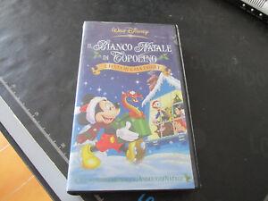 IL BIANCO NATALE DI TOPOLINO  VHS  Walt Disney originale dicembre 2001