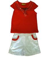 Conjuntos niña , pantalones cortos y camiseta de Caprichosa, rojo  ,talla 6
