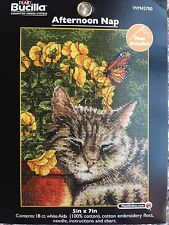 Bucilla Cross Stitch Kit Kitty CAT AFTERNOON NAP Counted