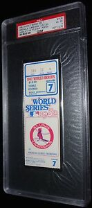 1982 WORLD SERIES GAME 7 TICKET ST LOUIS CARDINALS CLINCH 9TH WS TITLE PSA 4