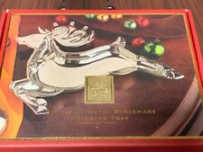 Lenox Reindeer Holiday Serving Tray~Christmas Collectible~Yuletide Serveware