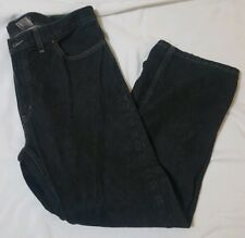 Unbranded Men Jeans Black Stone Wash Relaxed Fit Cotton Size 38x30