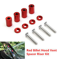 1 '' 8mm Billet Hood Vent Spacer Riser Kit For Car Engine Turbo Engine Swap Set