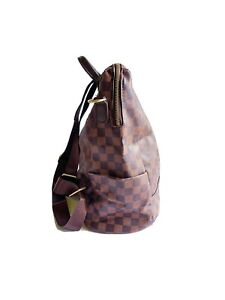 Brown checkered backpack. Casual Backpack.