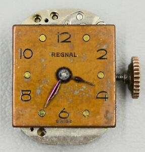 Langer Watch Co 17j Unadjusted Watch Movement Winds/Rins +1m/24h