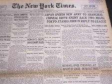 1932 FEBRUARY 24 NEW YORK TIMES - JAPAN SPEEDS NEW ARMY TO SHANGHAI - NT 4782