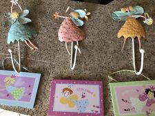 Girls room-Whimsical Flower Fairy wall hooks, wall decals, and small plaques
