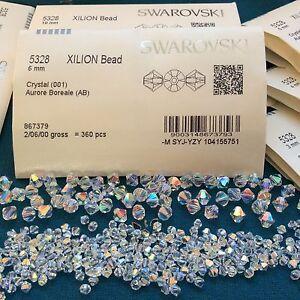 Swarovski® Crystal Bicone Beads #5328 CRYSTAL AB - Choose 72 PC or Factory Pack
