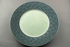 VINTAGE QUISTGAARD GREEN AZUR B&G KRONJYDEN DINING PLATE, 24CM,