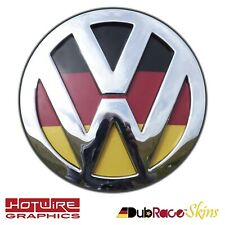 VW GOLF MK7 German Flag - REAR Badge Inserts. (Euro Look) GTI, R32, TDI