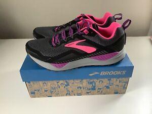 NEW Brooks Cascadia 14 Women's Trail Running Shoes - Gray/Pink - Sz 8.5