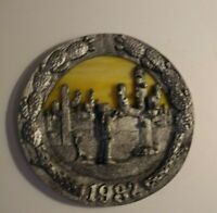Micheal Ricker Pewter Plate 1982 Southwestern Christmas #310 Limted Edition