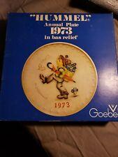 "Goebel M.I. Hummel 1973 Annual 7-1/2"" Plate in Bas Relief. Globetrotter"