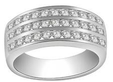 Right Hand Engagement Ring Vs1 E 1.10 Carat Round Cut Diamond 14K White Gold