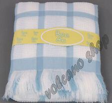 New BeeBo Large Shawl Blanket Baby Boys Blue Check Design 122cmx122cm