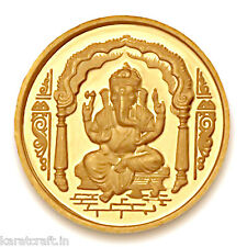 KaratcraftIn 2 grm 22 Kt purity 916 fineness Ganesha Gold Coin