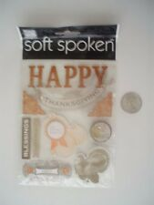 SOFT SPOKEN FALL HAPPY THANKSGIVING SCRAPBOOK STICKERS