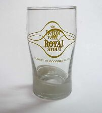 ROYAL STOUT Beer Short GLASS Chinese Gold Carlsberg MALAYSIA Clear 2012 Collect