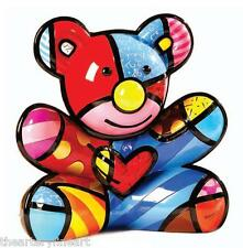 "ROMERO BRITTO 'Cuddly Bear', 2011 RETIRED Piggy Bank LARGE 10"" Sculpture **NEW**"